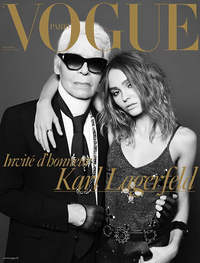 The cover of the Vogue Paris December 2016/January 2017 issue lensed by Hedi Slimane.