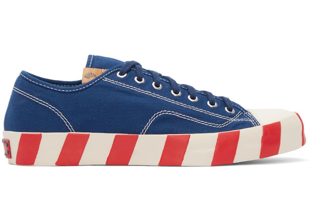 Visvim Blue Skagway Lo Stripes Sneakers