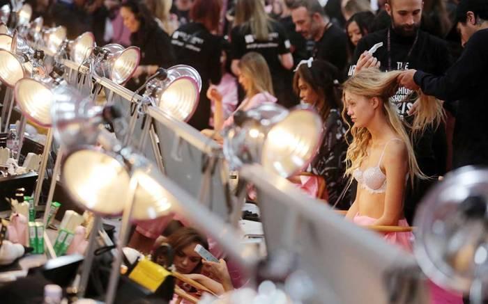 Victoria's Secret backstage.