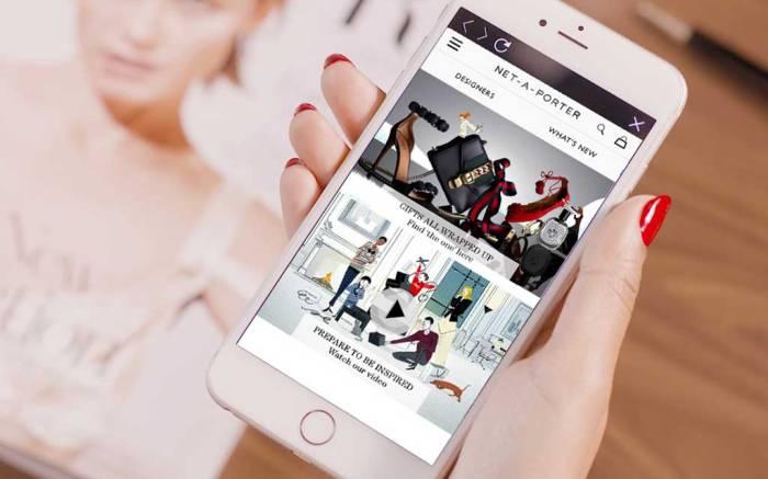 Net-a-Porter mobile app.