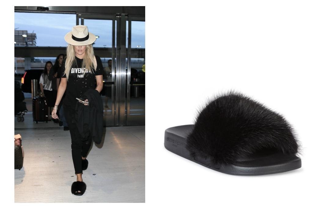 Givenchy Mink Fur & Rubber Slides