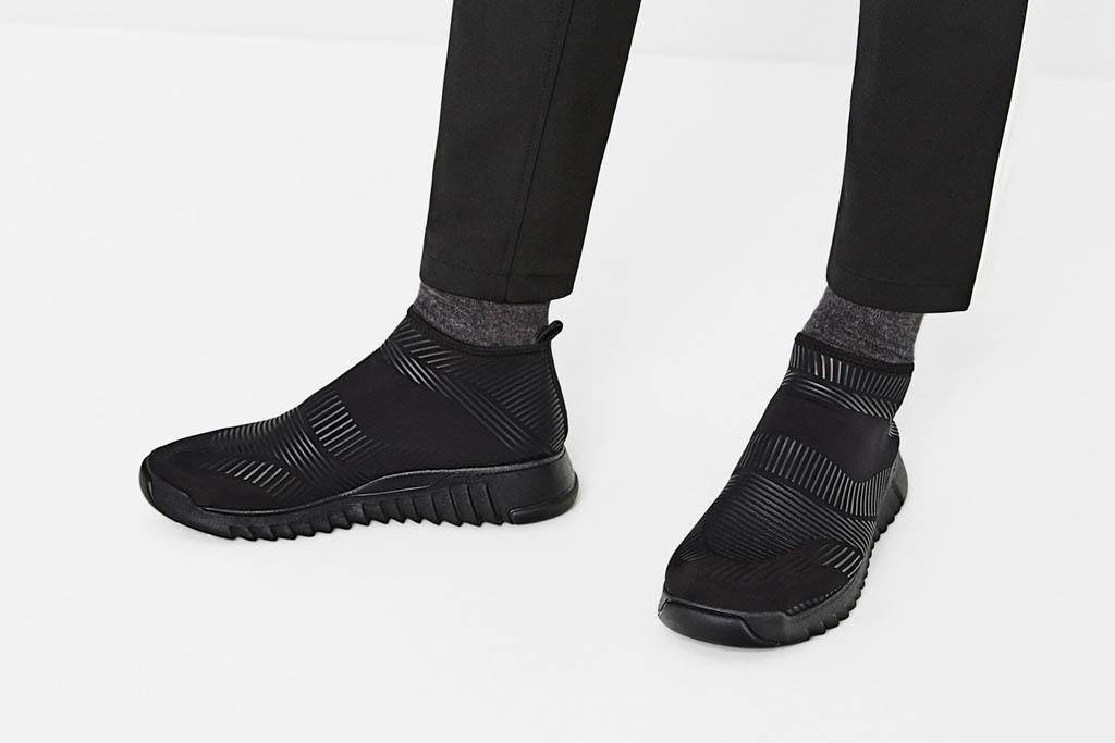 Zara Black Geometric High Top