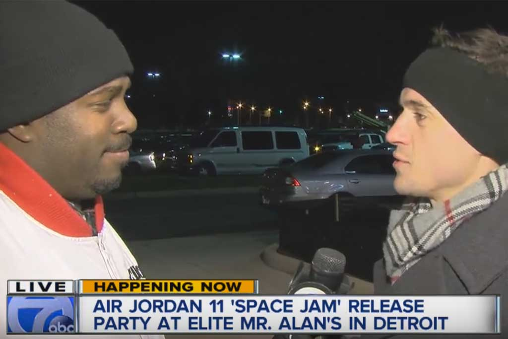Fan Waited 18 Hours For Air Jordan 11 Space Jam Sneakers That Sold