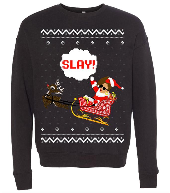 bon qui qui christmas sweater