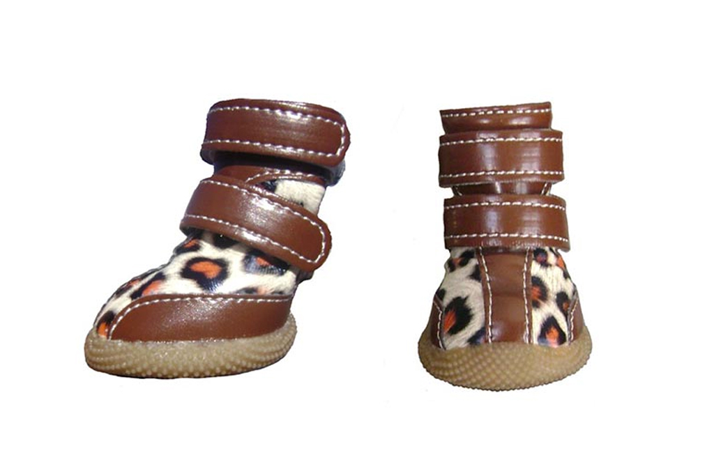 all dog boots leopard print