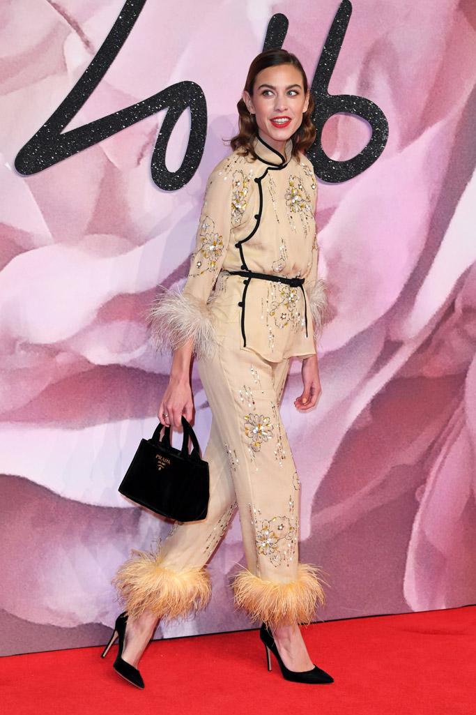 Alexa Chung British Fashion Awards 2016