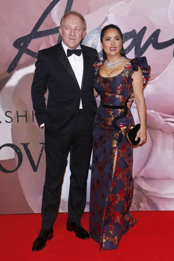 Francois Henri Pinault Salma Hayek British Fashion Awards 2016
