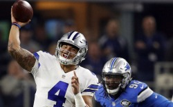 Dallas Cowboys quarterback Dak Prescott cleats