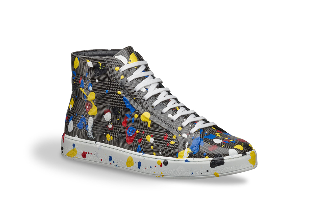 Dior Mens Spring 2017 Painted Sneakers