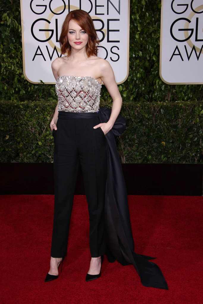 Emma Stone Awards Shows Red Carpet Style