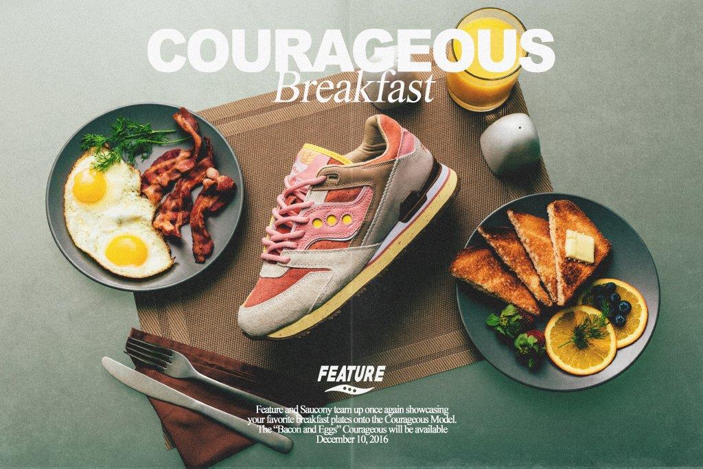 "Feature x Saucony Courageous ""Bacon & Eggs"""