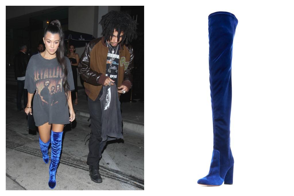 Aquazzura Velvet 105mm Thigh-High Boot