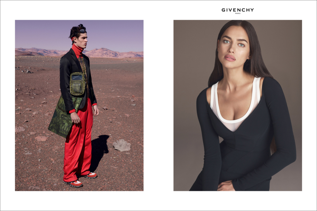 A visual from the new Givenchy spring ad campaign.