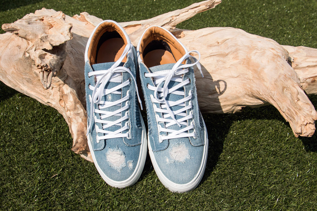 Android Homme denim sneakers