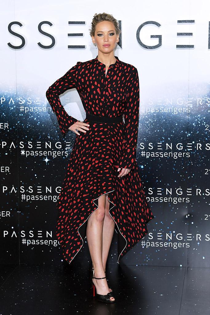Jennifer Lawrence in Christian Louboutin in Passengers