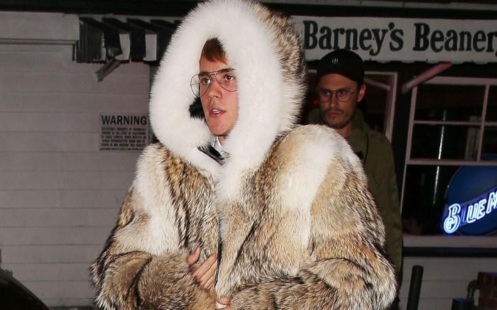 Justin Bieber Fur Coat