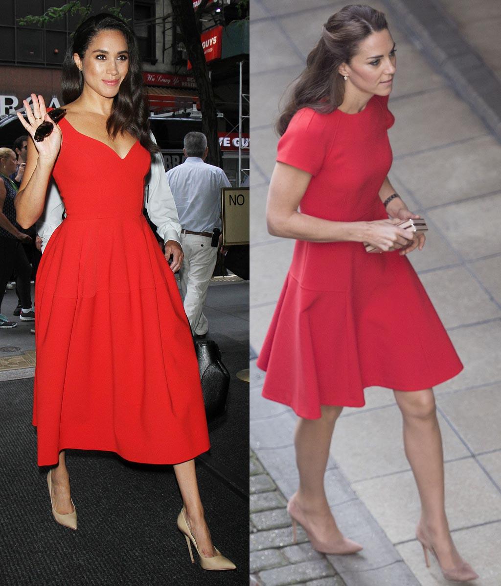 Kate Middleton (left) and Meghan Markle.