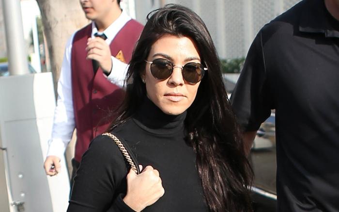 Kourtney Kardashian Penelope Disick Matching Vans