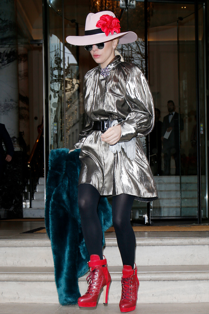 Lady Gaga London boots