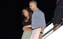malia obama barack hawaii vacation