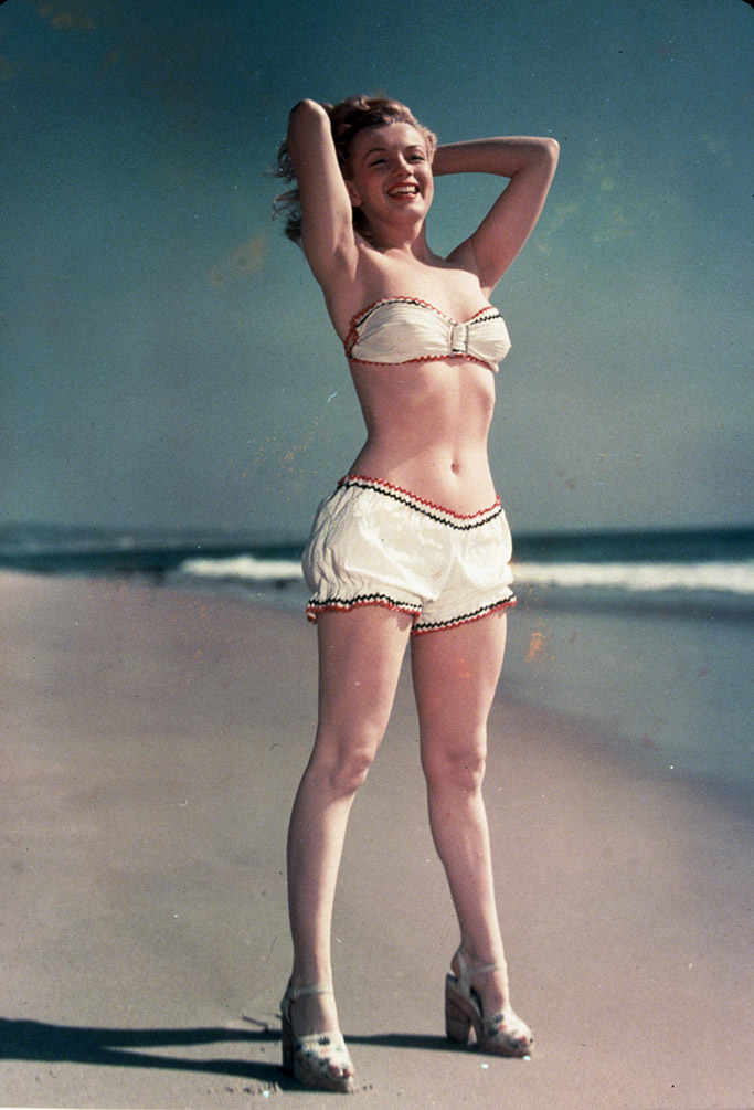 Pin-up image of Marilyn Monroe in 1947.