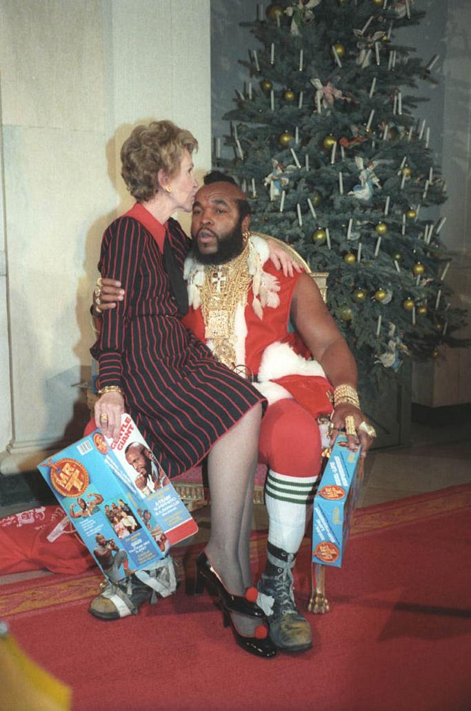 nancy reagan mr. t christmas photo