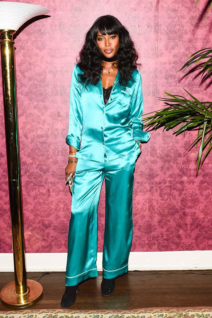 Celebrities in Silk Pajamas
