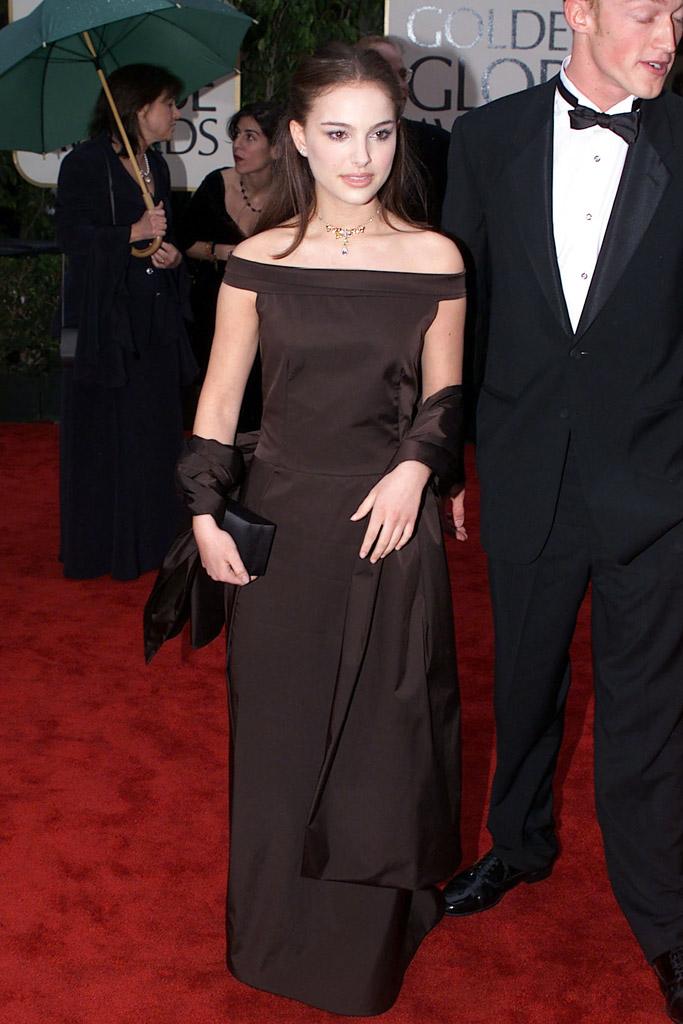 Natalie Portman Jackie Golden Globes Red Carpet Style