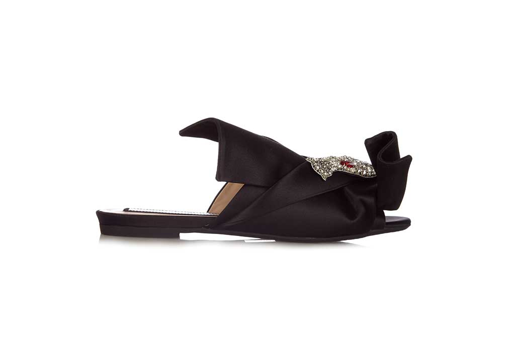 The most stylish mules for a long haul flight.