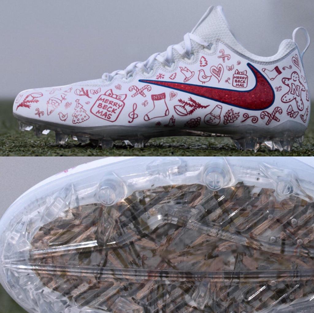 NFL Odell Beckham Jr custom Christmas Nike cleats