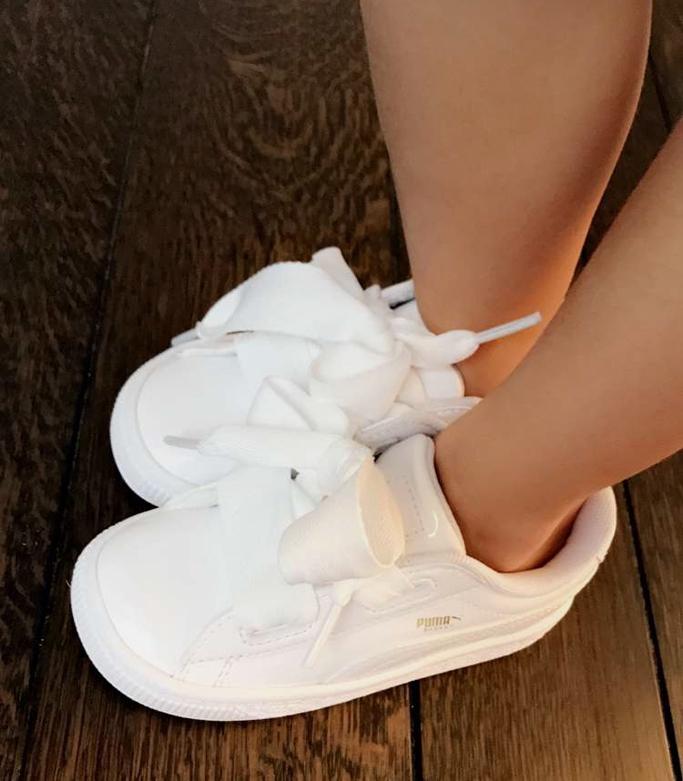 Penelope Disick Puma Basket Heart Sneakers