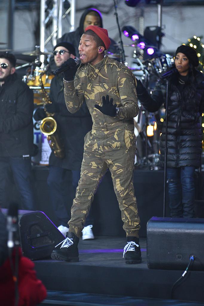 Pharrell Williams Performs in Timberland Today Show
