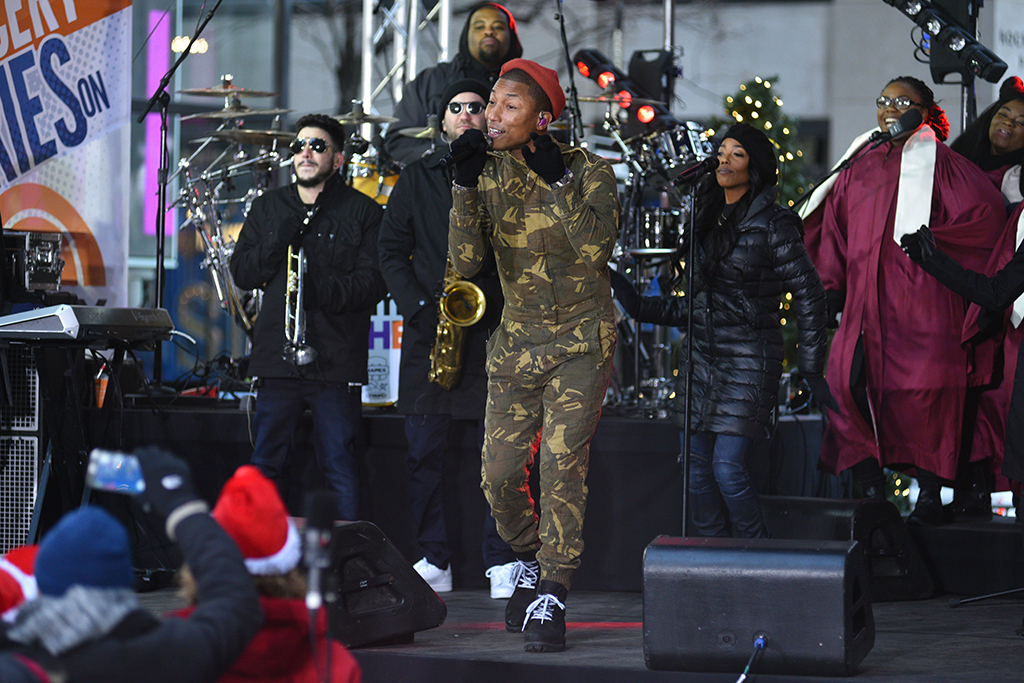 Pharrell Williams in Timberland Boots Today Show
