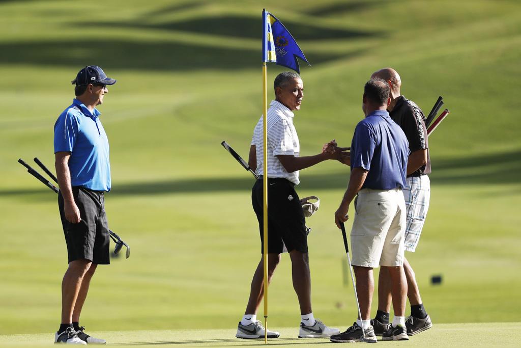 President Obama Hawaii Golf
