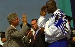 Bill Clinton and Shaquille O'Neal