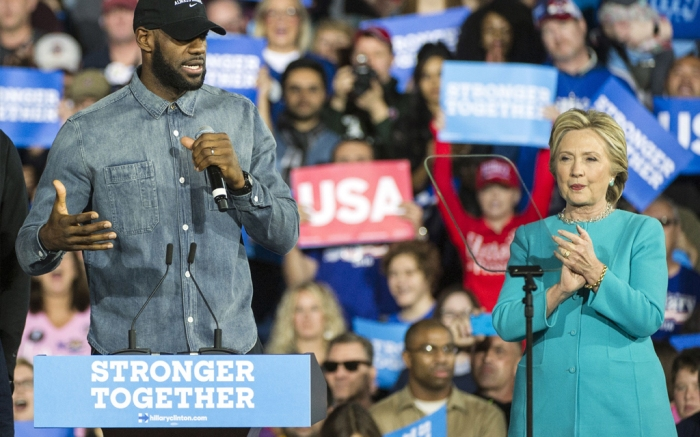 LeBron James and Hillary Clinton