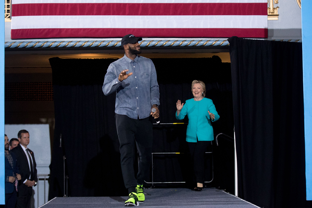 LeBron James and Hillary Clinton.