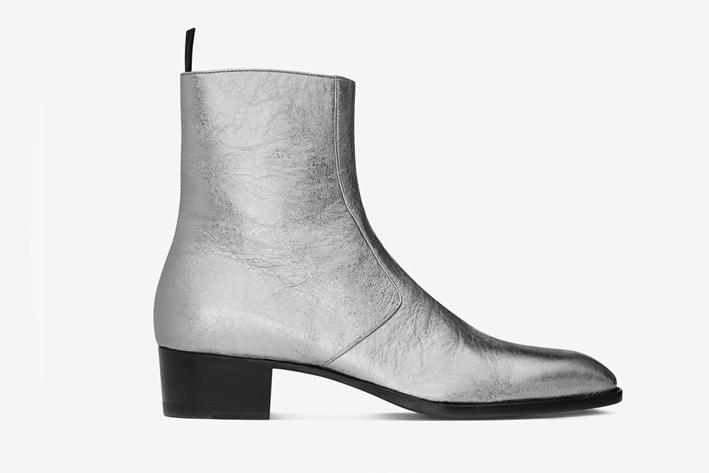 saint laurent metallic boot
