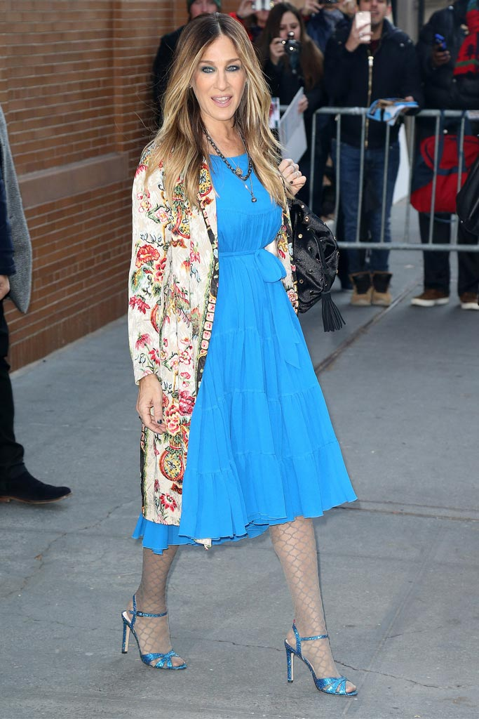 Sarah Jessica Parker sandals tights