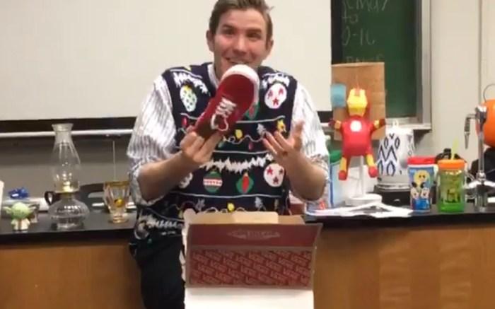 Teacher's Reaction to Receiving Vans from Students