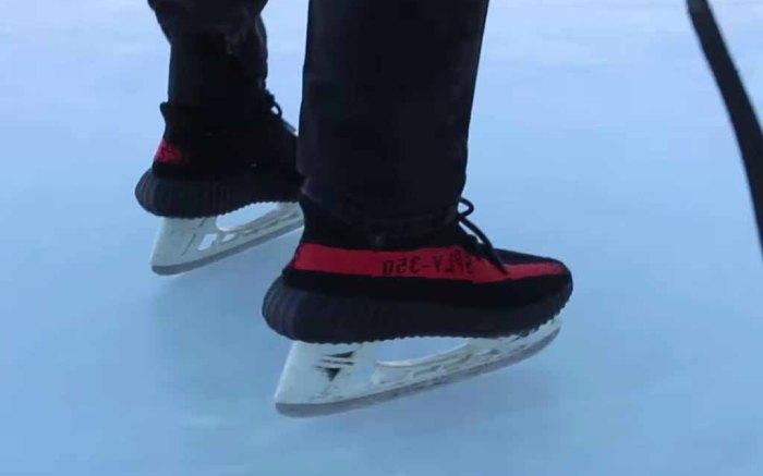 Adidas Yeezy Boost 350 V2 Ice Skates