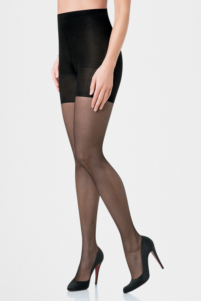 Micro-fishnet tights, $42.00, Spanx.com