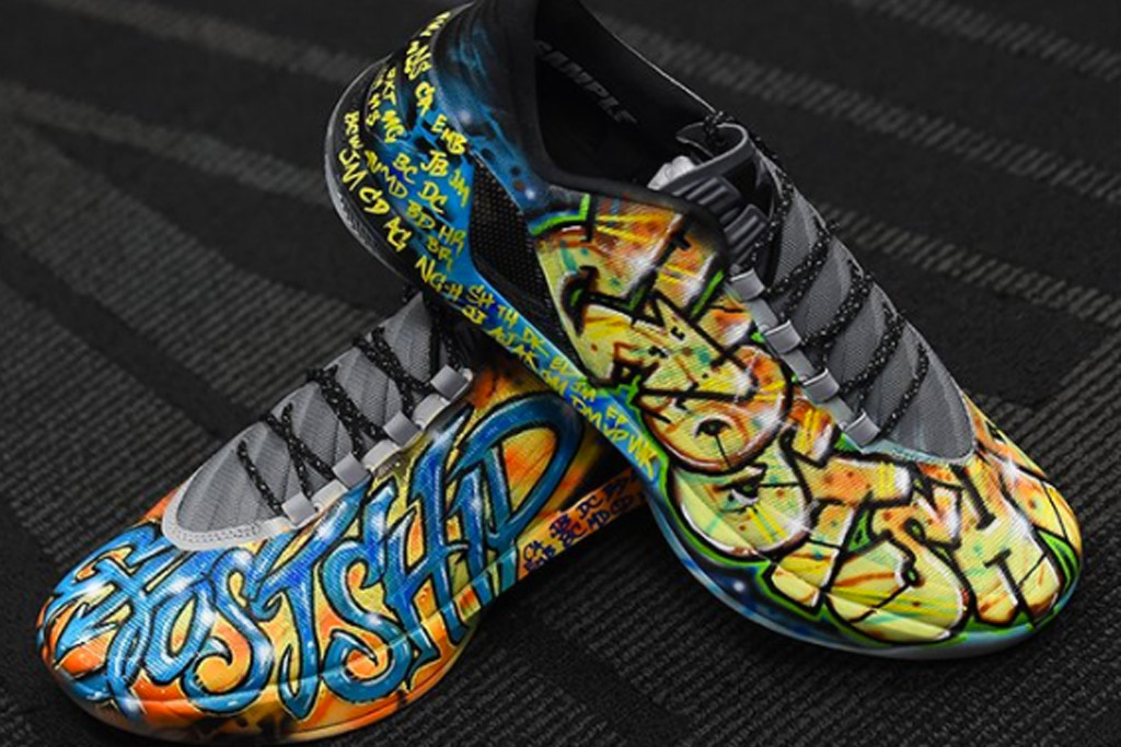 Stephen Curry Oakland Fire Custom Sneakers