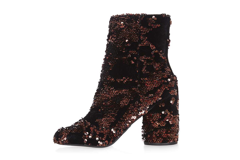 topshop glitter boot