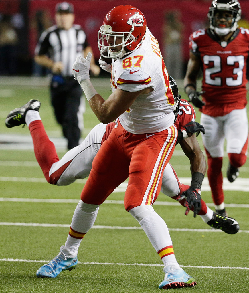 Travis Kelce Kansas City Chiefs Mache Nike Eighty-Seven and Running cleats