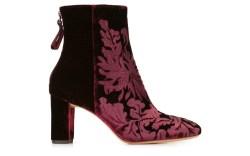 Alexandre Birman Velvet Ankle Boots