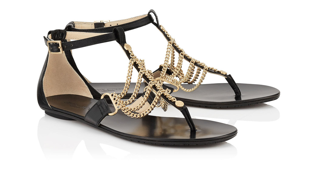 jimmy choo wallace sandals gold chain