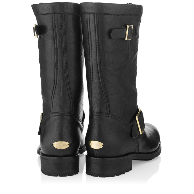 Jimmy Choo Black Biker Boots