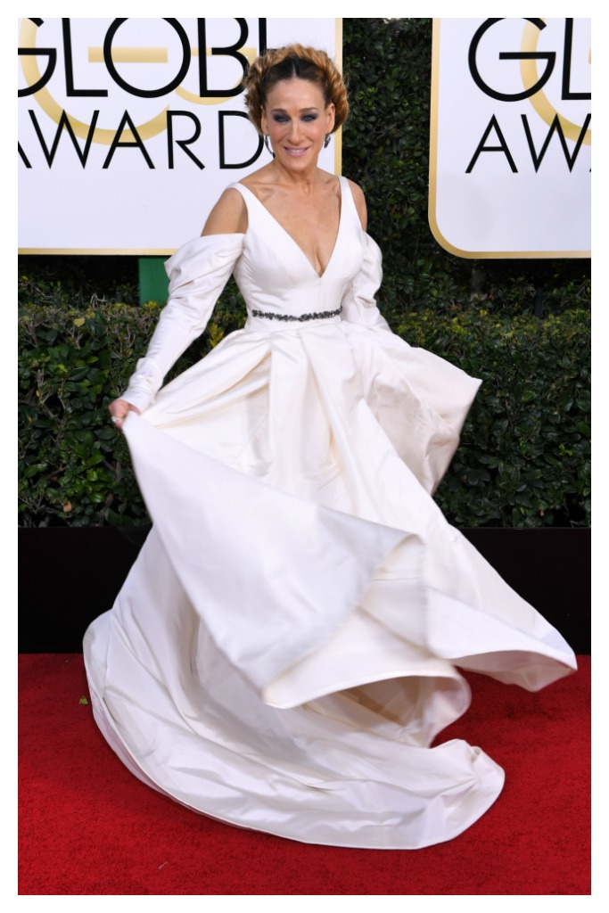 Sarah Jessica Parker at the 2017 Golden Globes.