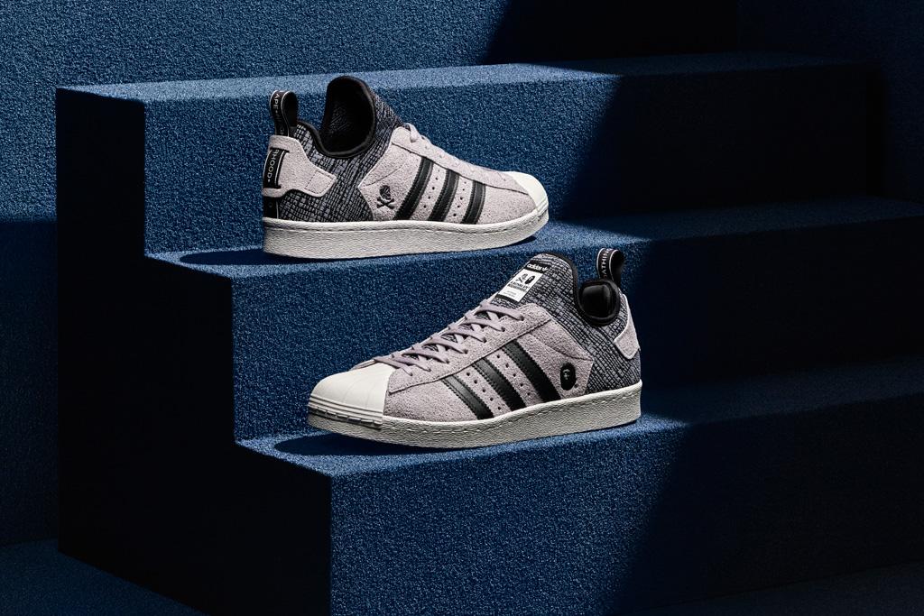 Adidas Originals Bape Neighborhood Superstar Boost